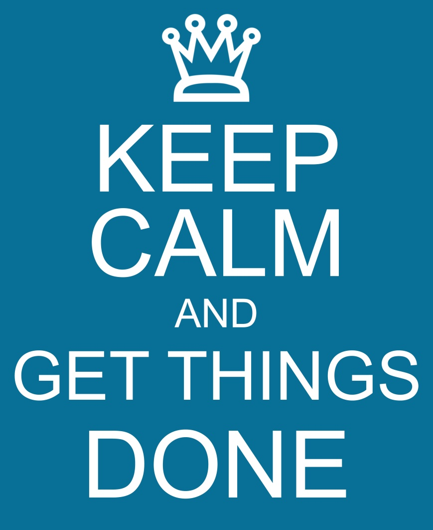 Keep Calm and Get Things Done blue sign