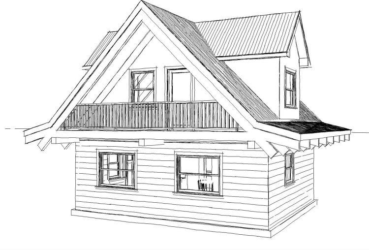 Drawing-of-480-sqft-log-cabin